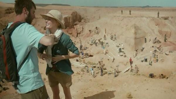 На раскопках пирамиды