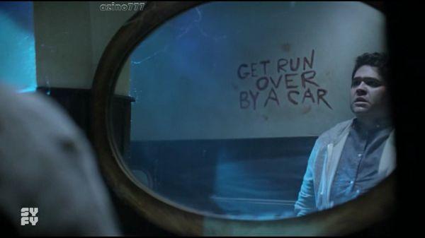Надпись на зеркале