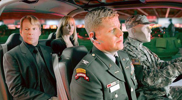 В машине военных